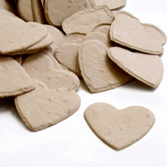 Free Sample of our Latte Brown Heart Shaped Confetti!