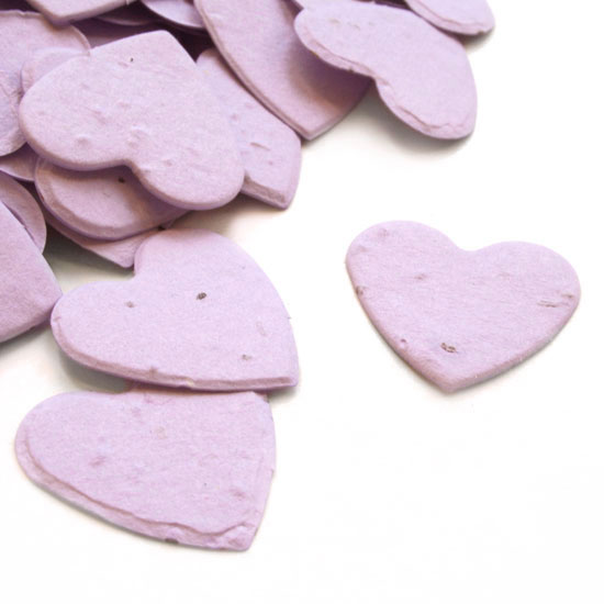 Free Sample of our Lavender Heart Shaped Confetti!