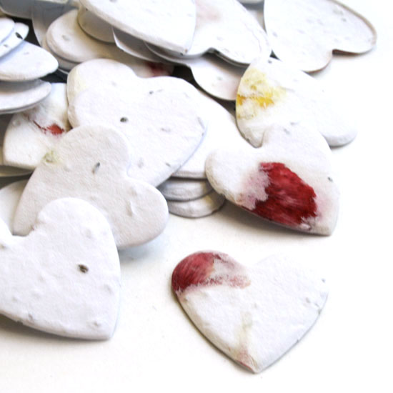 Free Sample of our Petalled Heart Shaped Plantable Confetti!