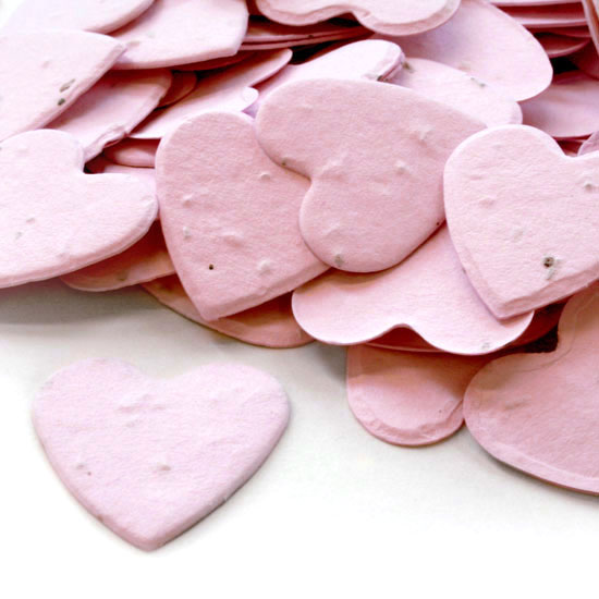 Free Sample of our Pink Heart Shaped Confetti!