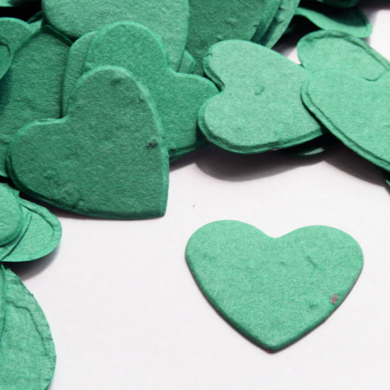 Free Sample of our Teal Heart Shaped Confetti!