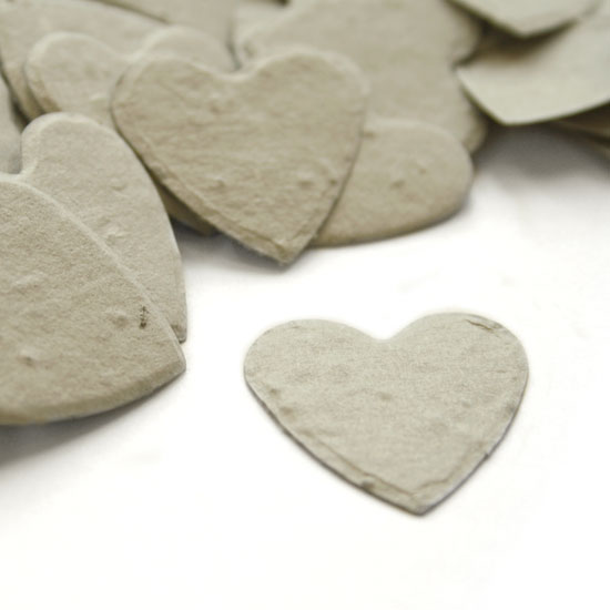 Heart Shaped Dove Grey Plantable Seeded Confetti
