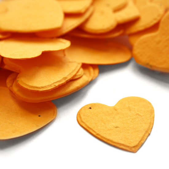 Heart Shaped Marigold Yellow Plantable Seeded Confetti