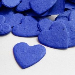 Heart Shaped Royal Blue Plantable Seeded Confetti