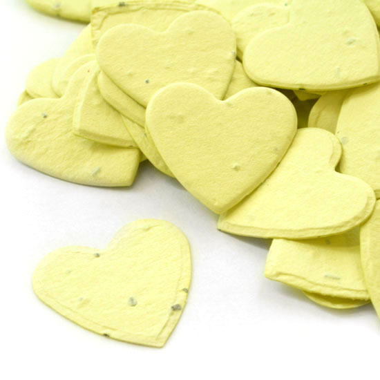 Heart Shaped Yellow Plantable Seeded Confetti