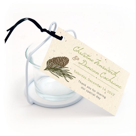 Pinecone Plantable Favor Tag