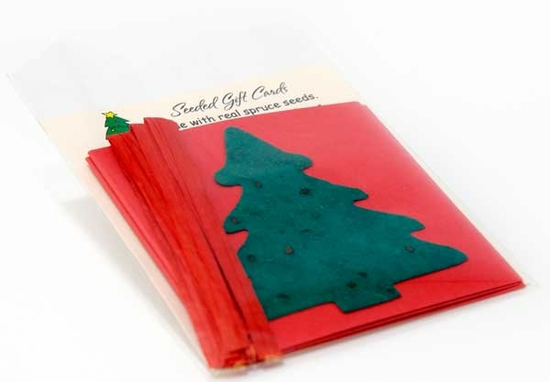 Spruce Tree Folded Gift Tags