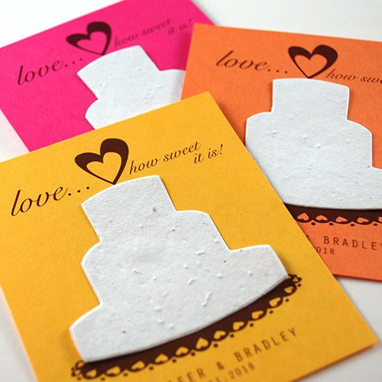 Sweet Love Plantable Favors - Brights!
