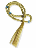 100 Knots Flush  Prayer Rope  from Greece, 13 3/4""