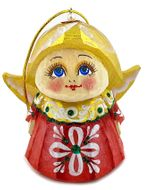 Little Angel, Wooden  Christmas Ornament, Assorted Colors