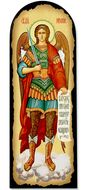 Archangel Michael, Gold Foil Panel Icon, Embossed Printing