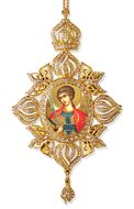Archangel Michael, Framed Icon Ornament, Byzantine Style
