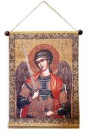 Archangel Michael, Hanging Tapestry Icon Banner