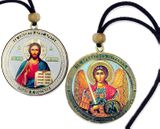 Archangel Michael / Christ The Teacher, Reversible Icon on  Rope