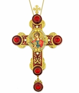 Archangel Michael Icon in Byzantine Styled Cross Ornament