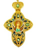 Archangel Michael,  Faberge Style Framed Cross With Icon