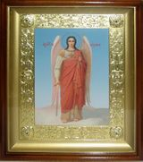 Archangel Michael, Gold Framed Orthodox Christian Icon with Glass
