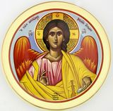 Archangel Michael Greek Hanging Icon Plate