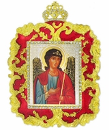Archangel Michael, Ornament Icon Red