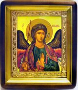 Archangel Michael, Orthodox Icon in Wood Frame with Glass