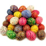Assorted Colorful Ukrainian Pysanky Wooden Eggs, Set of 10