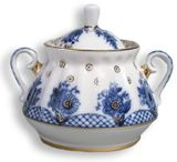 Lomonosov Porcelain 'Basket'  Sugar Bowl