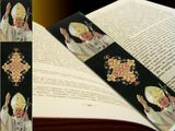 Blessed Pope John Paul II, Textile Art Tapestry  Icon  Book Marker