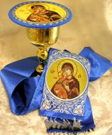 Book Marker and Chalice  Icon Disc, Set of 2
