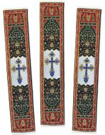 Set of 3 Tapestry  Icon  Book Markers,  IC XC Cross