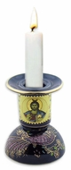 Candle Holder, Greek Icon Ceramic