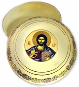 Ceramic Rosary Icon Case, Cream