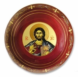 Ceramic Rosary Icon Case, Red