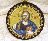 Chalice Cover  Disc with Image of  Christ Almighty