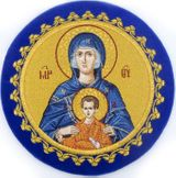 "Chalice Cover  Disc  with Image of  Virgin Mary ""Inexhaustible Cup"""