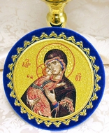 Chalice Cover  Disc with Image of Virgin of Vladimir