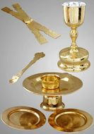 Chalice Set, Gold and Silver - Large, 0.75 Litre