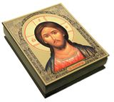 Christ Almighty, Wooded Icon Keepsake Rosary Box