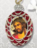 Christ Almighty, ECCO HOMO, Faberge Inspired Framed Icon