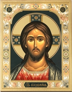 Christ Almighty, Gold Embossed Orthodox  Icon