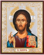 Christ Almighty, Gold & Silver Foil  Orthodox  Icon