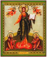 Christ Almighty with Saints and Archangels, Orthodox Icon