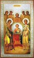 Christ Emmanuel with Synaxis of The Holy Angels, Orthodox Christian Icon