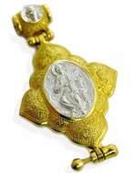 Christ Enthroned, Sterling Silver Gold Plated Locket