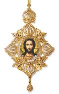 Jesus Christ, Framed Icon Ornament, Byzantine Style