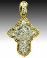 "Christ ""Not Made by Hands"" &  ""Dormition of Virgin Mary"", Reversible Cross"