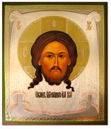 """Christ """"Not Made by Hands"""",  Orthodox Icon - SF-62"""
