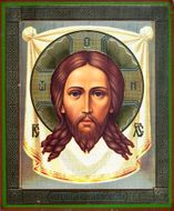 """Christ """"Not Made by Hands"""", Orthodox Icon - Veronica's Veil"""
