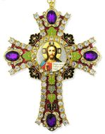 Christ The Teacher  Icon in  Jeweled Wall Cross