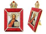 Christ The Teacher Icon in Square Style Frame with Stand