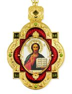 Christ The Teacher, Jeweled  Icon Pendant with Chain